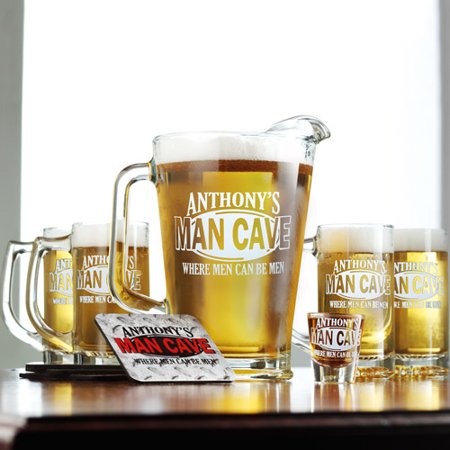Personalized Man Cave Shot Glass - Personalized Shot Glass No Minimum