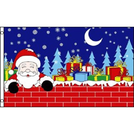 3x5 christmas eve santa claus flag holiday decoration banner party pennant new