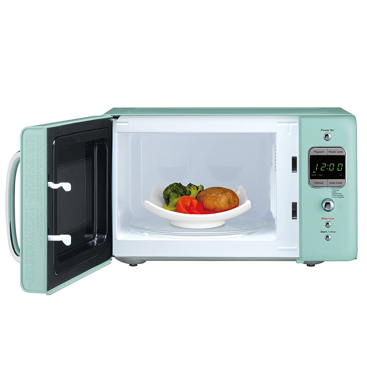Daewoo Retro Small Compact Microwave Oven 0 7 Cu Ft Mint Green 700w New Ebay