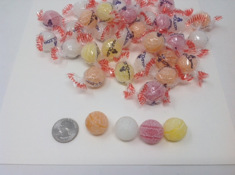 Sour Napoleons Assorted Fruit 1 pound sour bon bon hard candy