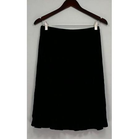 Susan Graver Skirt Sz XS Stretch Velvet Knee Length Black -