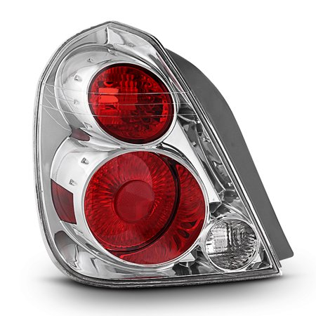 Chrome Tail Light Trim - Fit 2005-2006 Altima Driver Left Side Chrome Tail Light Brake Lamp Replacement