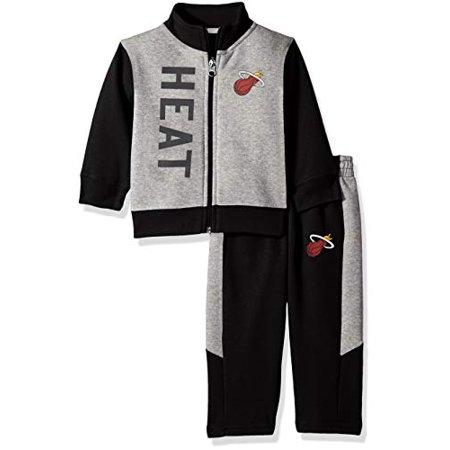 Outerstuff NBA NBA Infant Miami Heat On The Line Jacket & Pants Fleece Set, Black, 18 Months - image 1 de 1