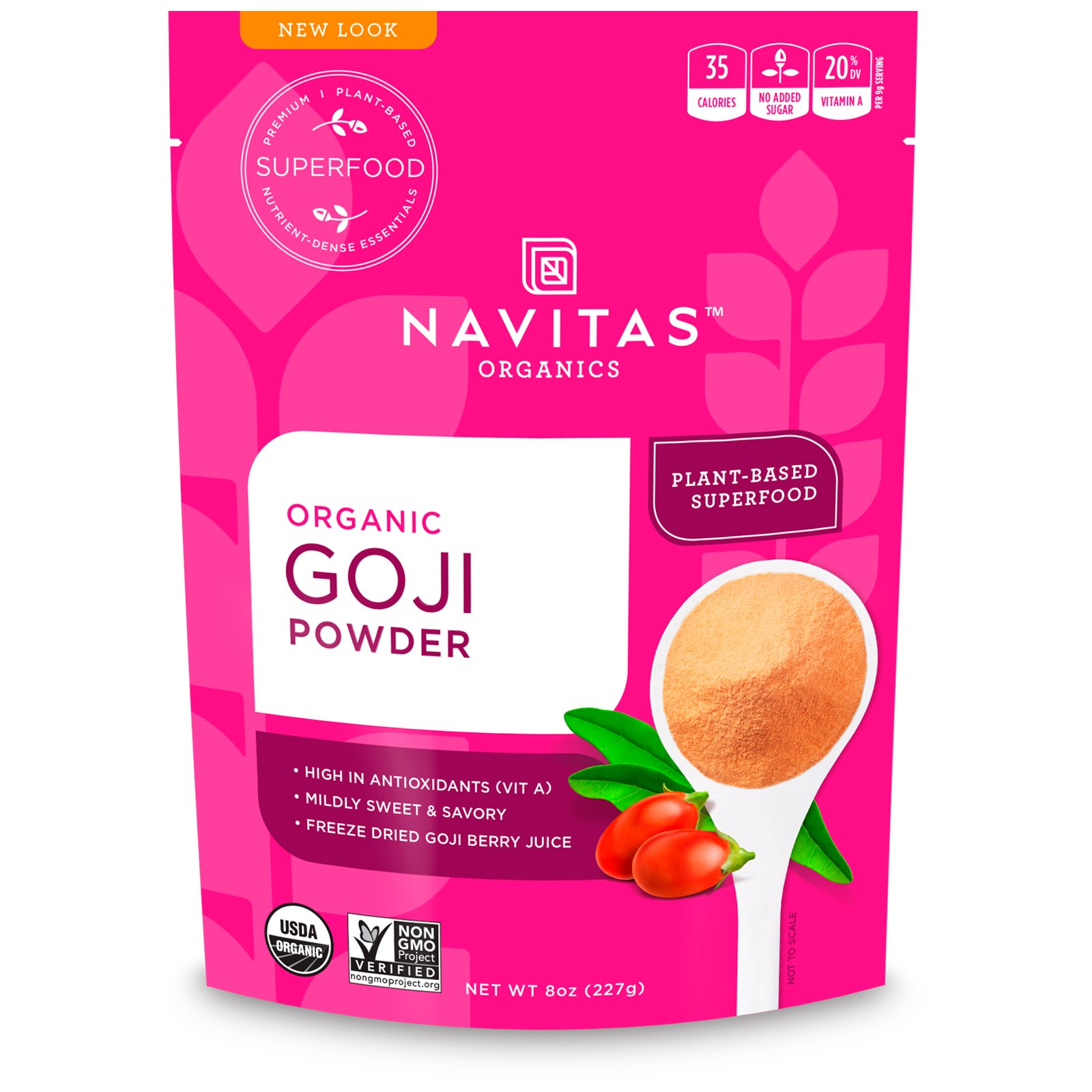 Organic Goji Powder 8 Oz 227 G Walmart Com Walmart Com