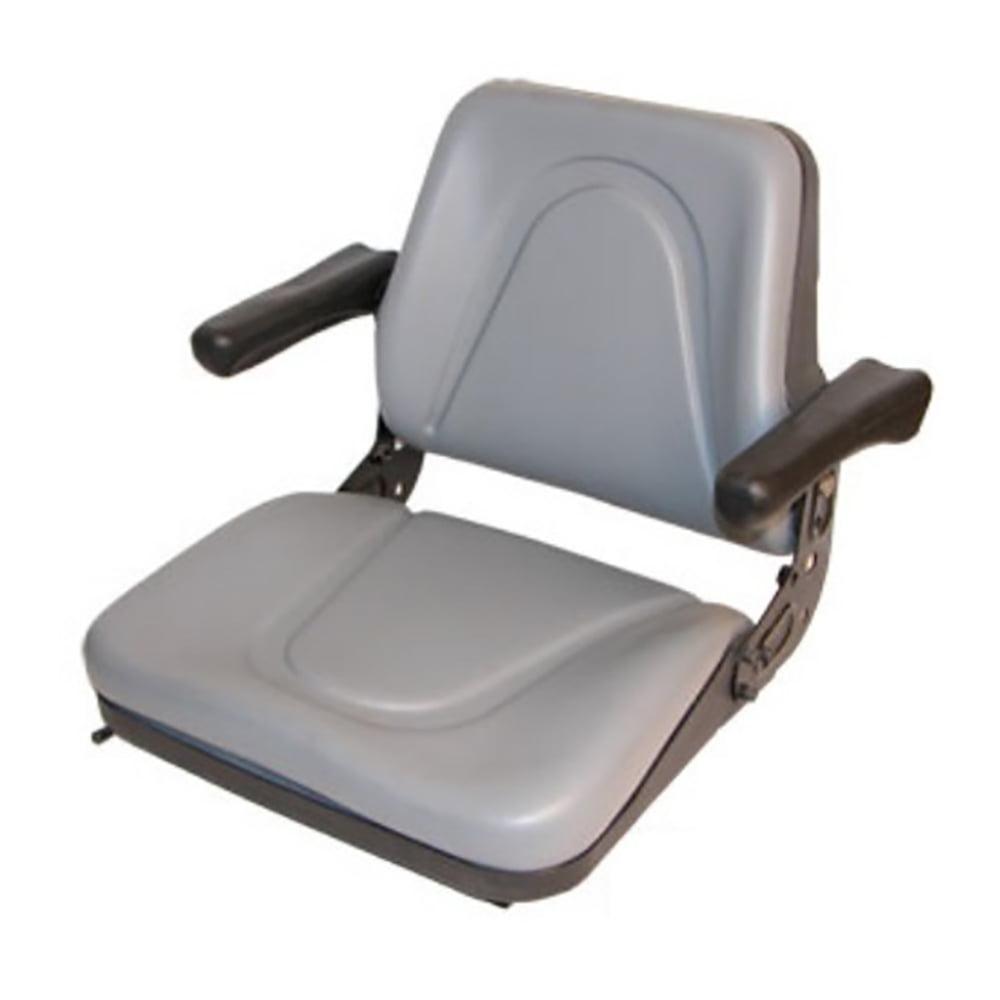 T500GY Universal Backhoe Dozer Skid Loader Tractor Adj Seat Track Gray