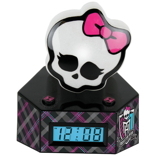 Ashton Sutton Monster High LCD Alarm Clock with Nightlight