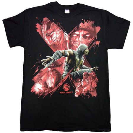 Mortal Kombat X Brush Stroke Montage Adult T-shirt