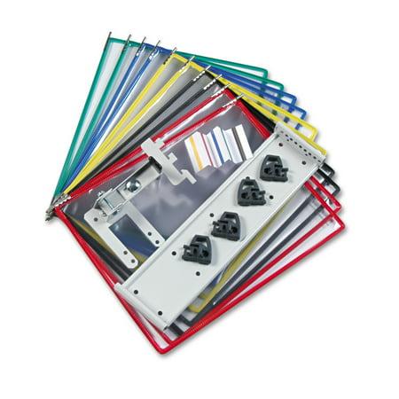 - Tarifold, Inc. Partition Wall Display Unit Starter Set, 10 Pockets, Silver -TFIPWB91