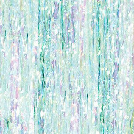 Iridescent Foil Fringe Door Curtain, 3ft x 8ft