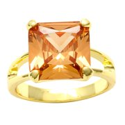 City by City  Goldtone Champagne Cubic Zirconia Cocktail Ring