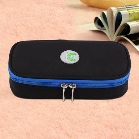 - HURRISE Diabetic Bag Portable Carrying Case Medical Travel Cooler Bag for Insulin Supply Kits Black,Diabetic Bag