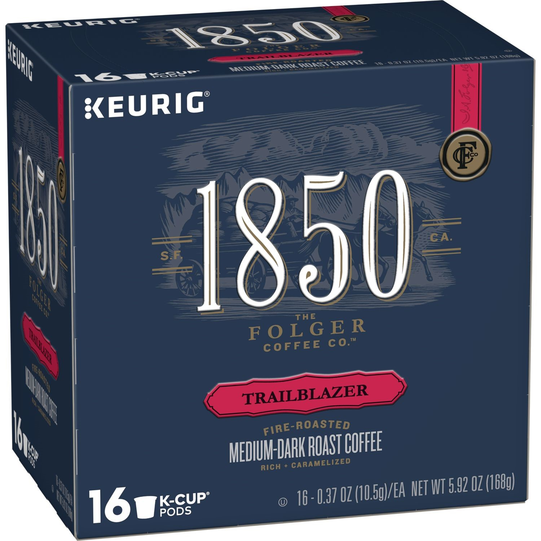 1850 Trailblazer, Medium-Dark Roast Coffee, K-Cup Pods for Keurig Brewers, 16-Count