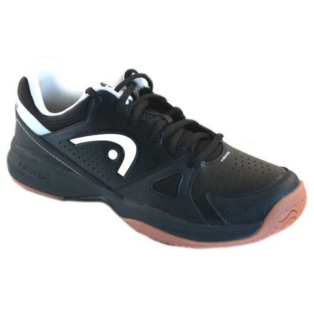 HEAD Men's Grid 2.0 Low Racquetball/Squash Indoor Court Shoes (Non-Marking)(Black/White) 8.5 (D) (Best Indoor Gym Shoes)