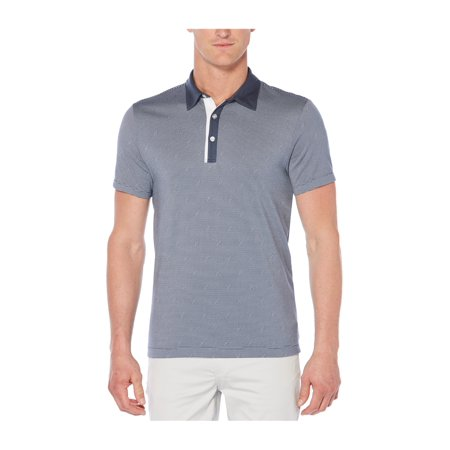 ec8cc45c Perry Ellis Mens Thin-Striped Rugby Polo Shirt port S