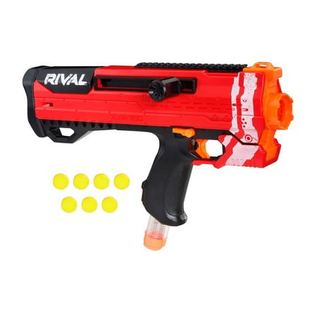 Helios XVIII-700 Nerf Rival Blaster (Red) Bolt-Action, 7 Official Nerf Rival Rounds, 7-Round Magazine