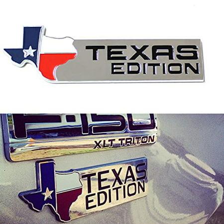 Edition Ford Ijdmtoy1Chrome Emblem 3d Texas F Finish Badges For OXZTPkiu
