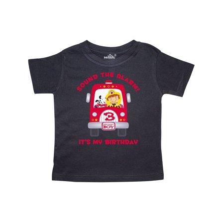 29c820a2 Inktastic - Fire Truck 3rd Birthday Boy Toddler T-Shirt - Walmart.com