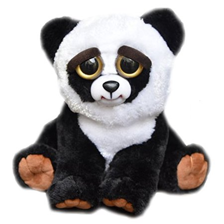 William Mark Feisty Pets Black Belt Bobby Plush Adorable Plush Stuffed Panda that Turns Feisty with a Squeeze - Kawaii Panda Plush