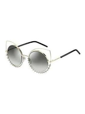 Marc Jacobs Women's Marc16s Cateye Sunglasses, Light Gold/Gray Silver, 53 mm
