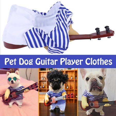 HURRISE Funny Pet Dog Cat Costume Guitar Player Puppy Dress Halloween Christmas Party with wig , Funny Pet Clothes, Dog Costume](This Is Halloween Cover Guitar)