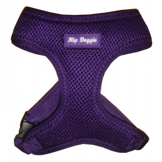 Hip Doggie HD-6PMHPR-S Small Ultra Comfort Purple Mesh Harness Vest