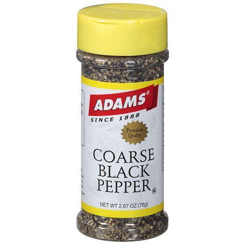 Adams Coarse Black Pepper Spice, 2.67 oz