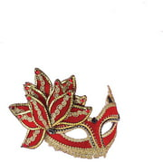 Red with Gold Venetian Adult Mask Accessory