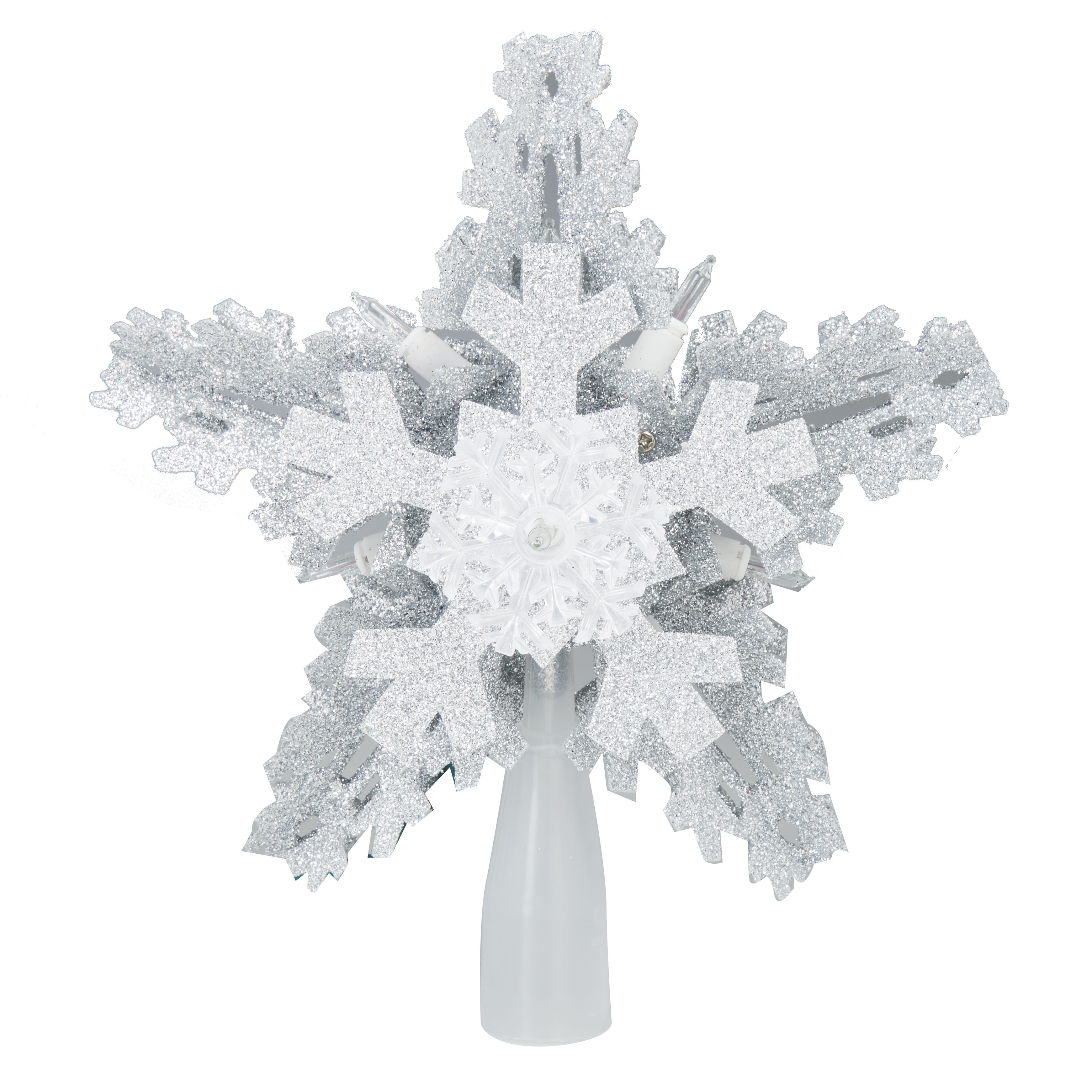 Holiday Time 8.5 inch Silver Snowflake Tree Topper