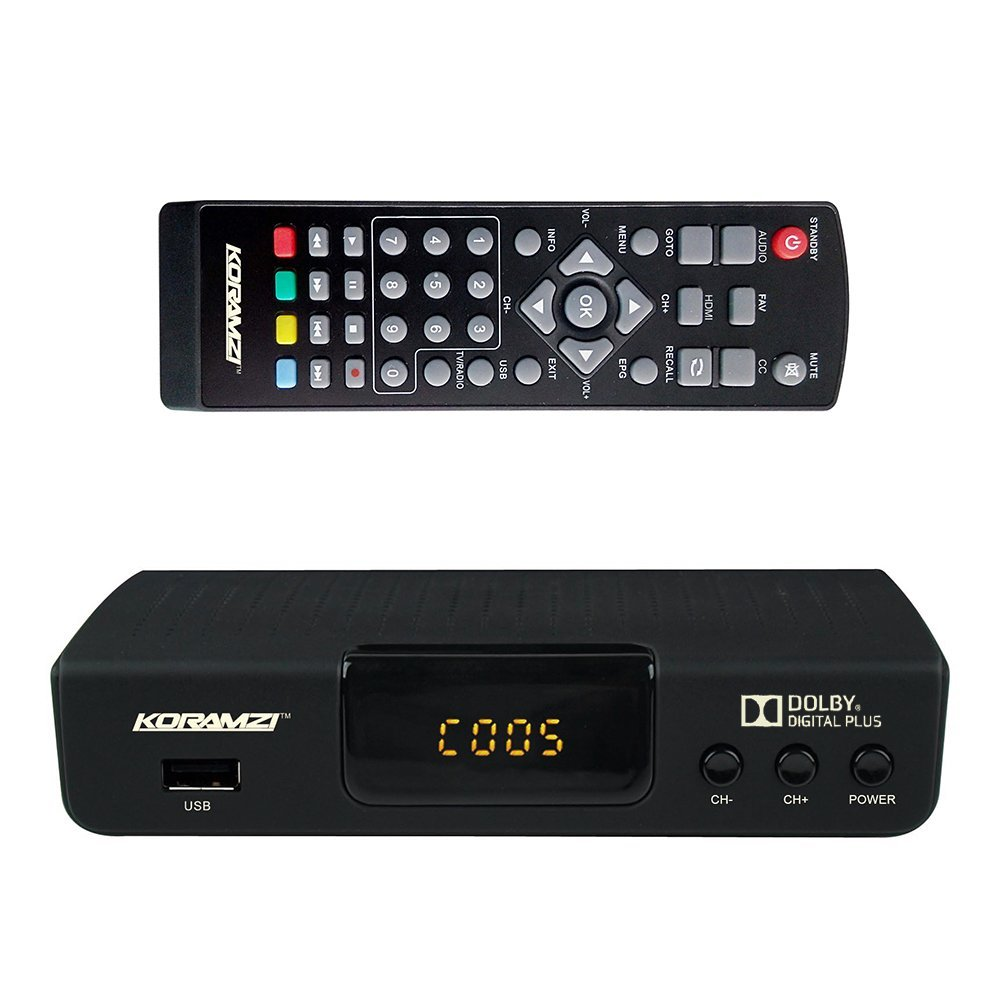 KORAMZI HDTV Digital TV Converter Box ATSC with USB Input for Recording and Media Player (New Version)- CB-105