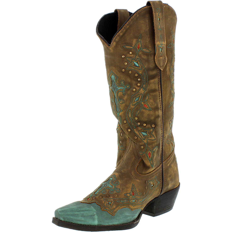 Laredo Women's Cross Point Leather Brown Rust Knee-High Boot 9.5M by Laredo