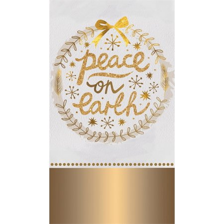 Paper Guest Towel, 15 count, Peace on Earth