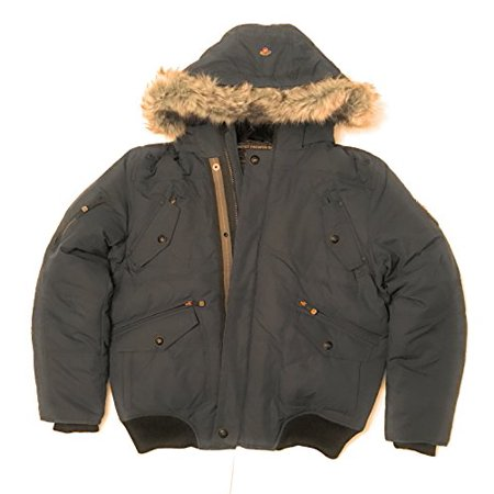 Point Zero Mens Down Coat - Minus 20 Degree Rating!!!! (Navy Blue, Large)