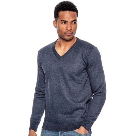 Mens Classic V-neck Sweater - True Rock Men's Lightweight Long Sleeve V-Neck Sweater