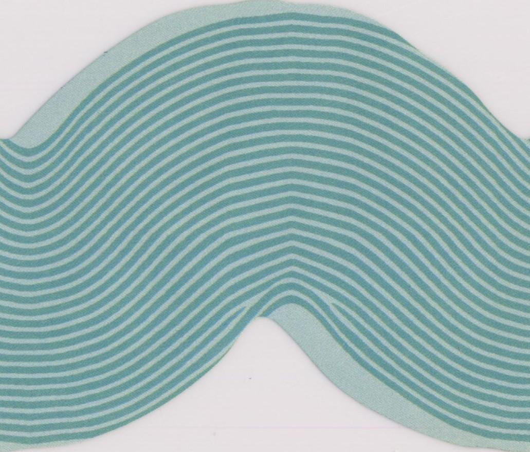 Teal Waves Narrow Wallpaper Border for Kids Bathroom Bedroom, Roll ...