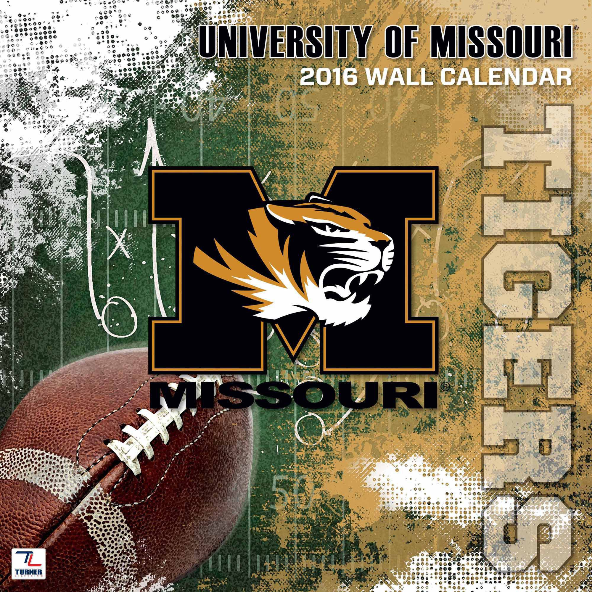 "Turner Missouri Tigers 2016 12"" x 12"" Team Wall Calendar"