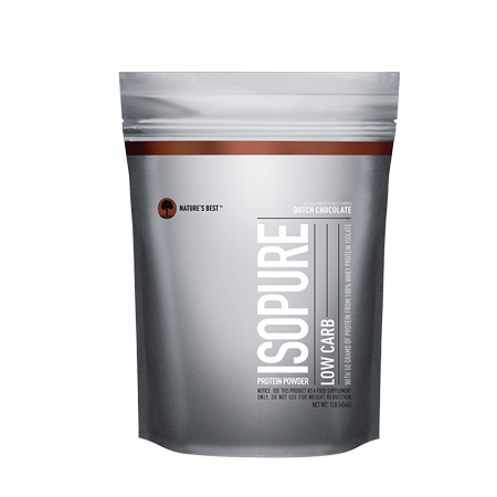 Isopure Low Carb Protein Powder, Chocolate, 50g Protein, 1 Lb