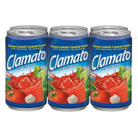 (2 Pack) Clamato Tomato Cocktail, Original, 5.5 Fl Oz, 6 Count