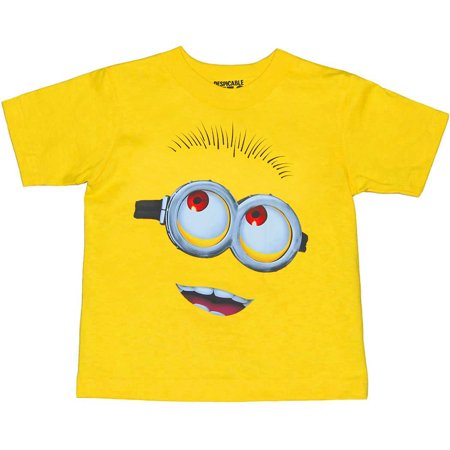 Despicable Me Minion Face Toddler T-Shirt](Despicable Me Female Minion)