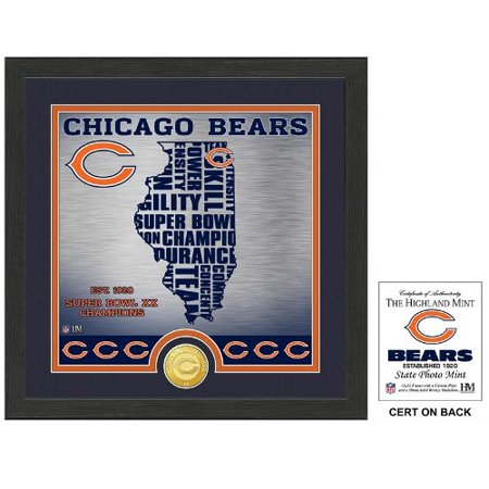 The Highland Mint Chicago Bears State Bronze Coin Photo Mint