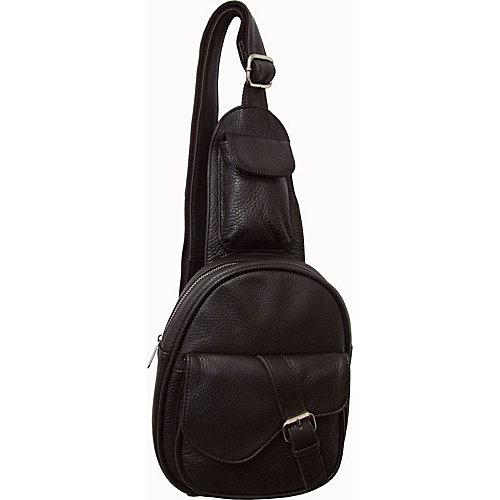 AmeriLeather Edwin Mini One-Strap Messenger Bag - Black
