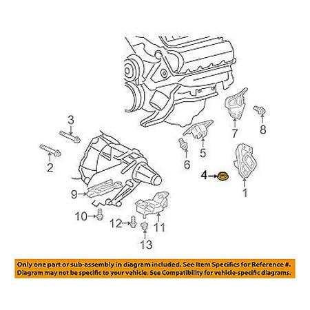Chrysler Oem 07 09 Aspen Engine Motor Transmission Mount Insulator