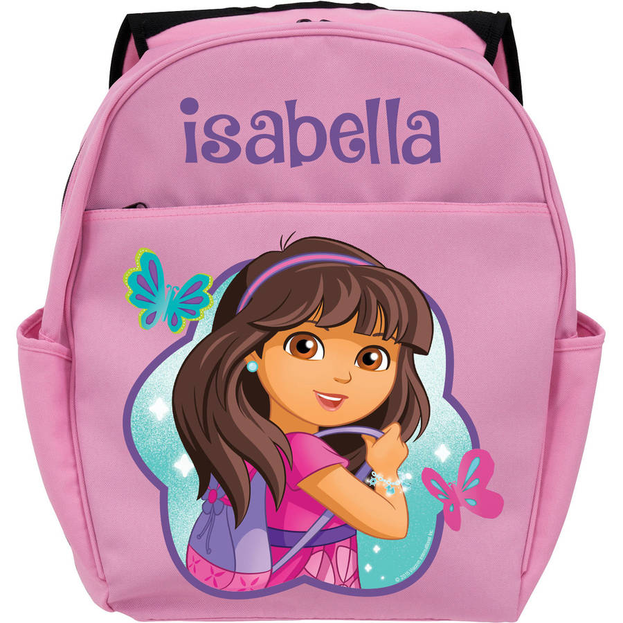 Personalized Dora and Friends Let's Go Pink Youth Backpack