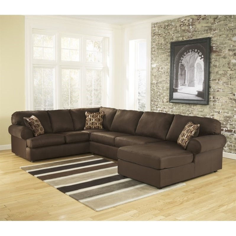 Ashley Cowan 3 Piece Fabric Sectional in Cafe by Ashley Furniture