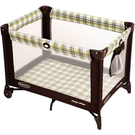 Green Plaid Dog Bed