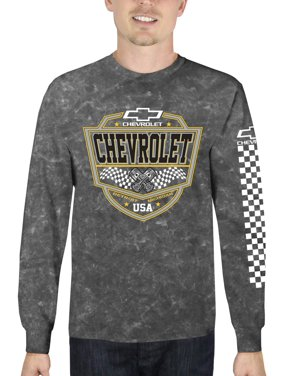 70e6c5705 Product Image Chevrolet Men's Long Sleeve Mineral Wash Graphic T-Shirt, up  to Size 3XL