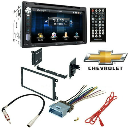 Stereo Install Dash Mount - Soundstream Double Din VR-651B DVD/CD/MP3 Player 6.5