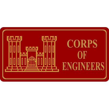 Army Corp. Of Engineers Photo License Plate