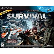 PS3 Cabela's Survival Shadows of Katmai Game Bundle  w/Top Shot Elite Rifle Gun