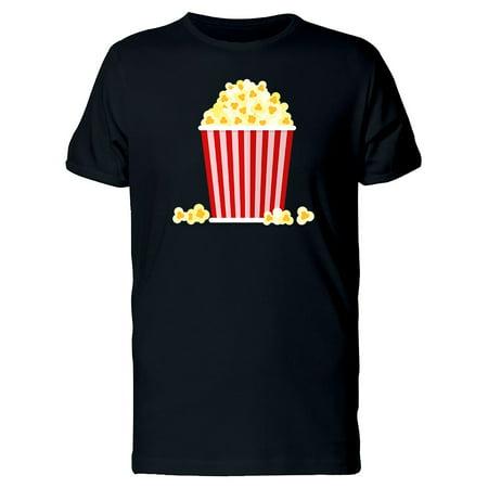 Popcorn Snack Illustration Tee Men's -Image by Shutterstock
