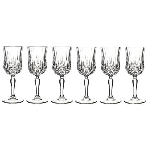 Lorren Home Trends Opera White Wine Glass (Set of 6)